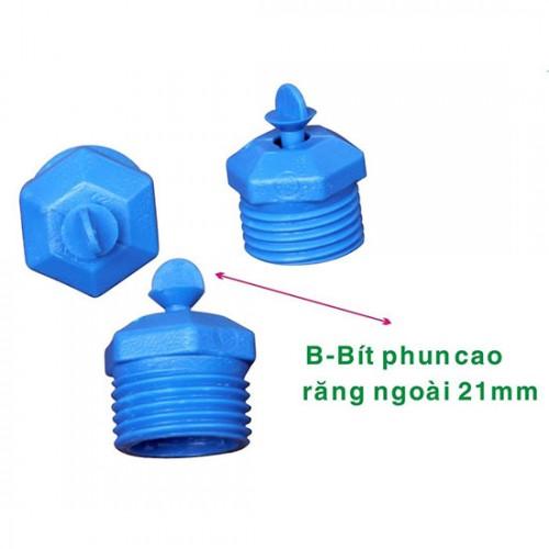 Béc bít phun nước cao họng phun 6 ly ren ngoài phi 21 BC-BIT POM