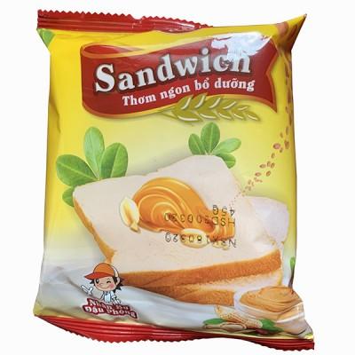 Bánh mì Sandwich nhân bơ đậu phộng