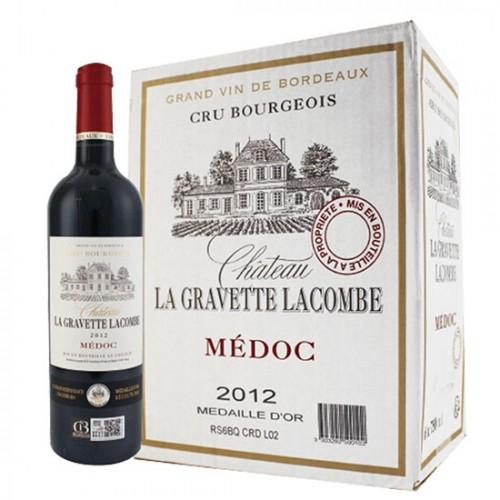 Rượu vang đỏPháp Chateau LA GRAVETTE LACOMBE CRU BOURGEOIS 750ml