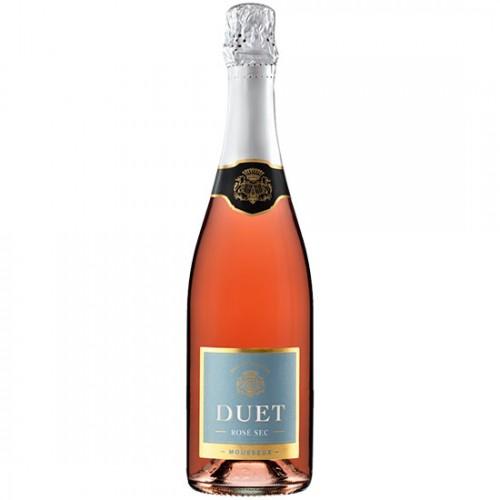 Rượu vang hồng sủi bọt Tây Ban Nha DUET Mousseux Rose Sec 750ml