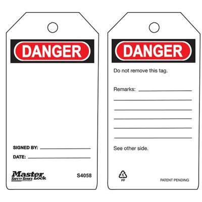 Thẻ an toàn - Nguy hiểm Master Lock S4058